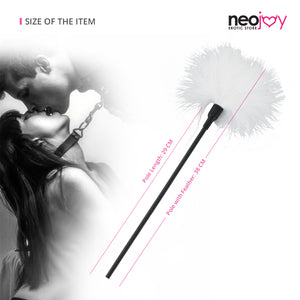 Neojoy Feather white Tickler - white 14.96 inch - 38 cm 5