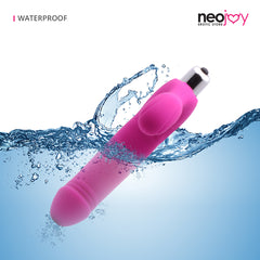 Neojoy Double Dildo Vibrator Insertable - Large Pink