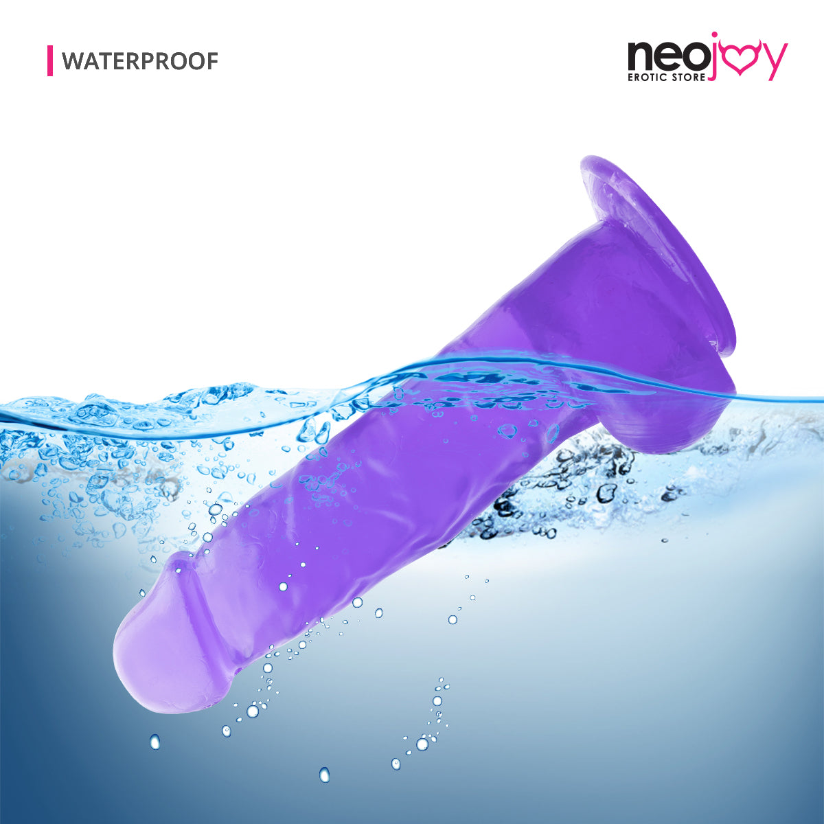 "Neojoy Jelly Willy 8.86"" Soft TPE Dildo - 22.5cm - Purple"