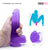 "Neojoy Jelly Willy 7.28"" Soft TPE Dildo - 18.5cm - Purple"