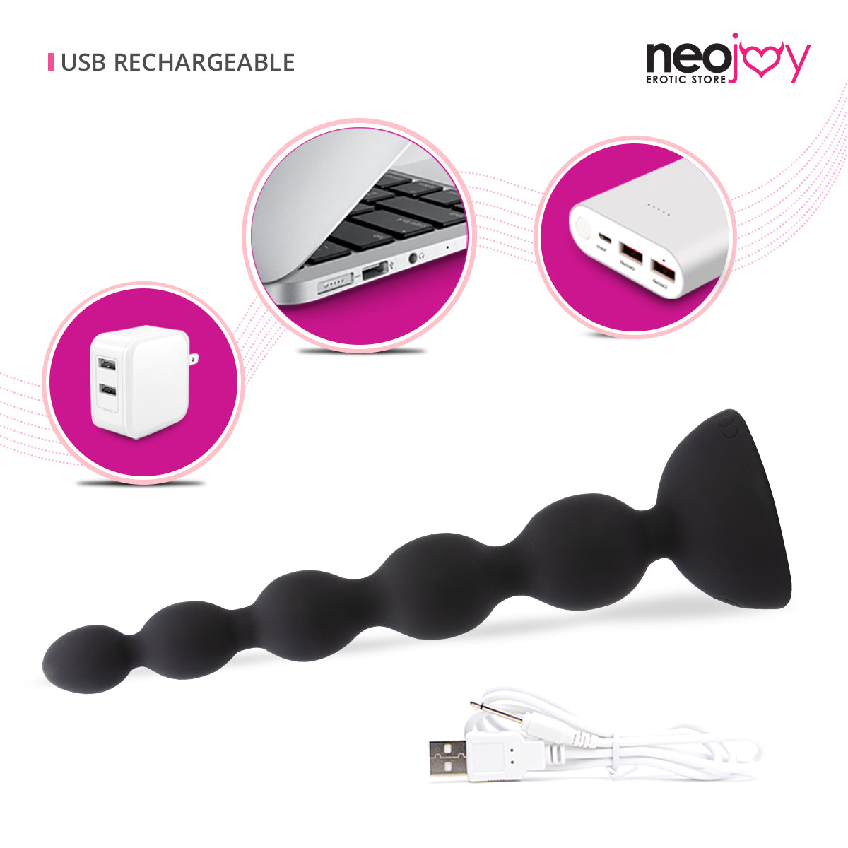 Neojoy Controlled Beads 10 Speeds Anal Prober - Large