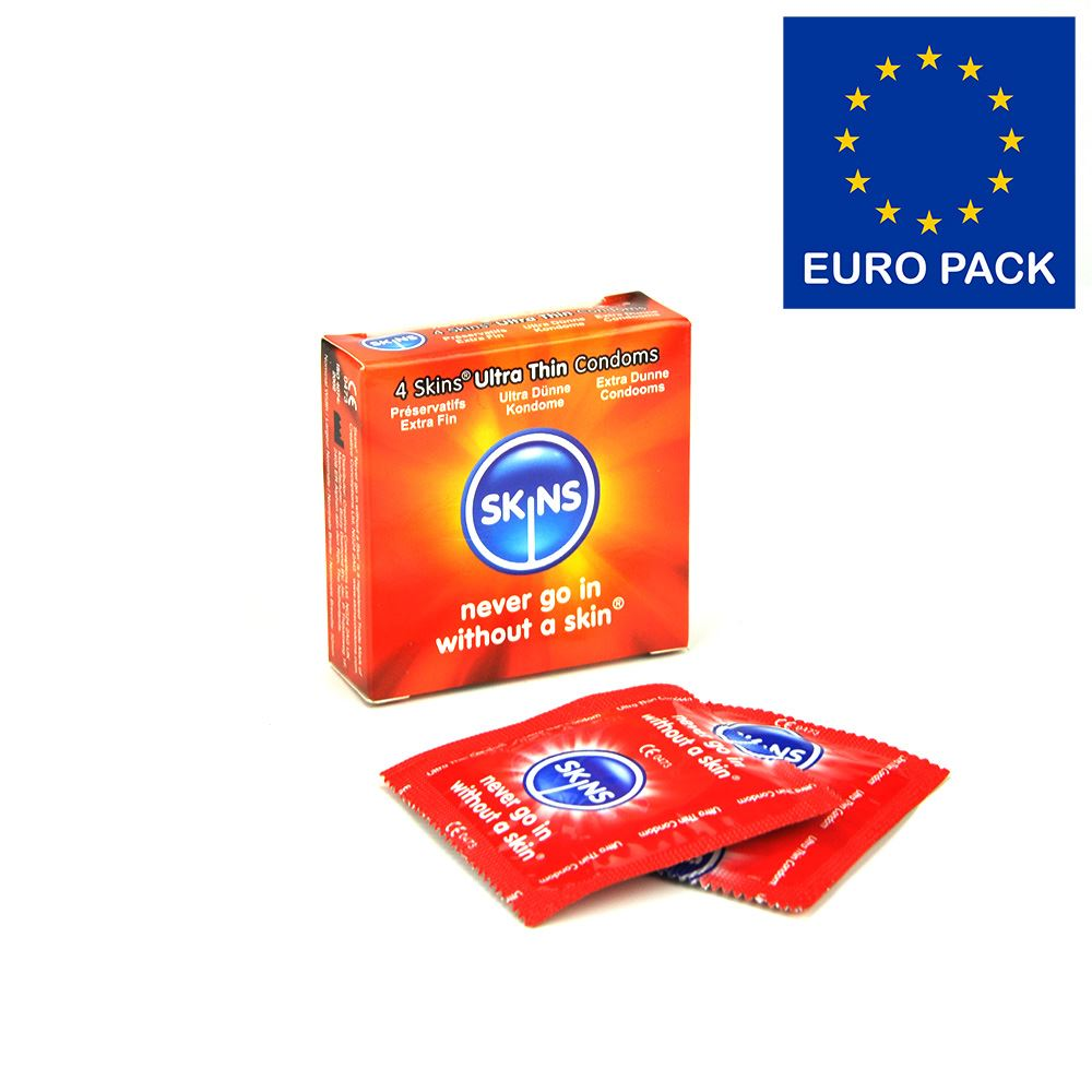 Skins Condoms Ultra Thin 4 Pack Euro 1