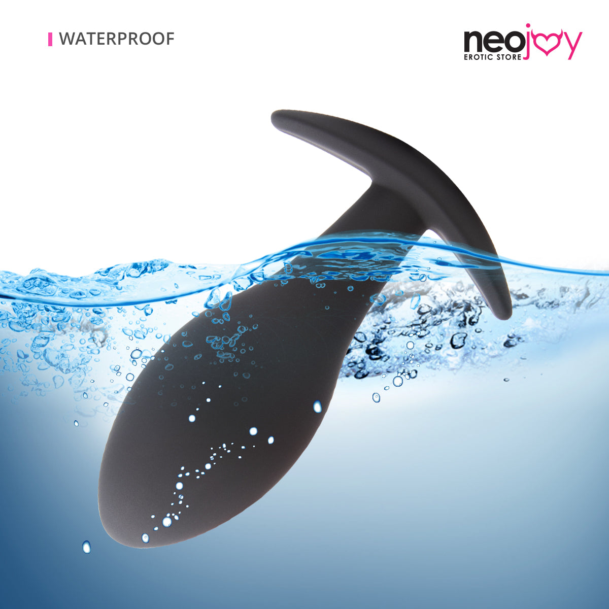 Neojoy Rear-entry Plug - Silicone Hypoallergenic Butt Plug Prostate Massager - P-Spot Anal Stimulation - Adult Sex Toy