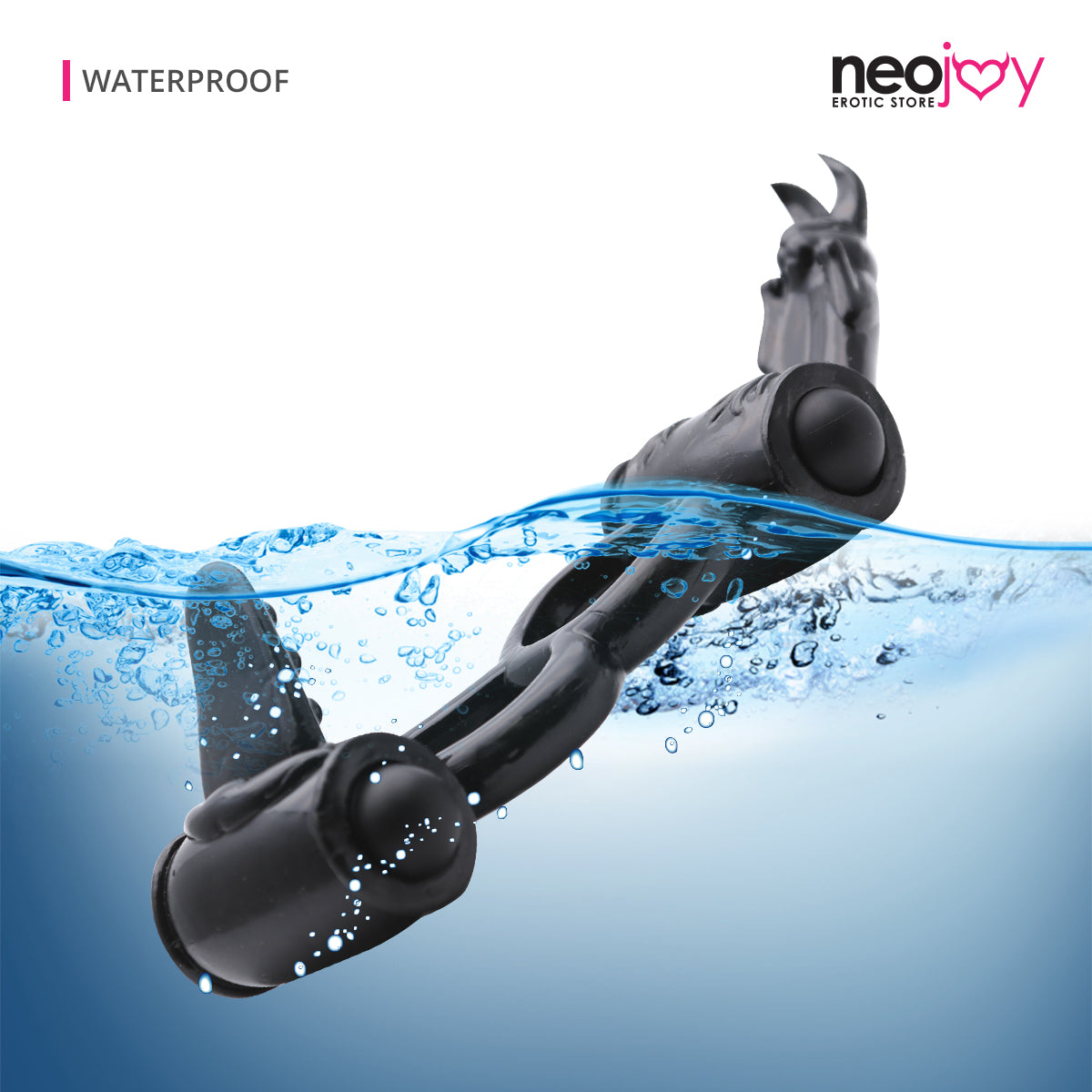 Neojoy Double Vibrator Ring Jelly Cock and Balls Double Ring Erection Enhancer