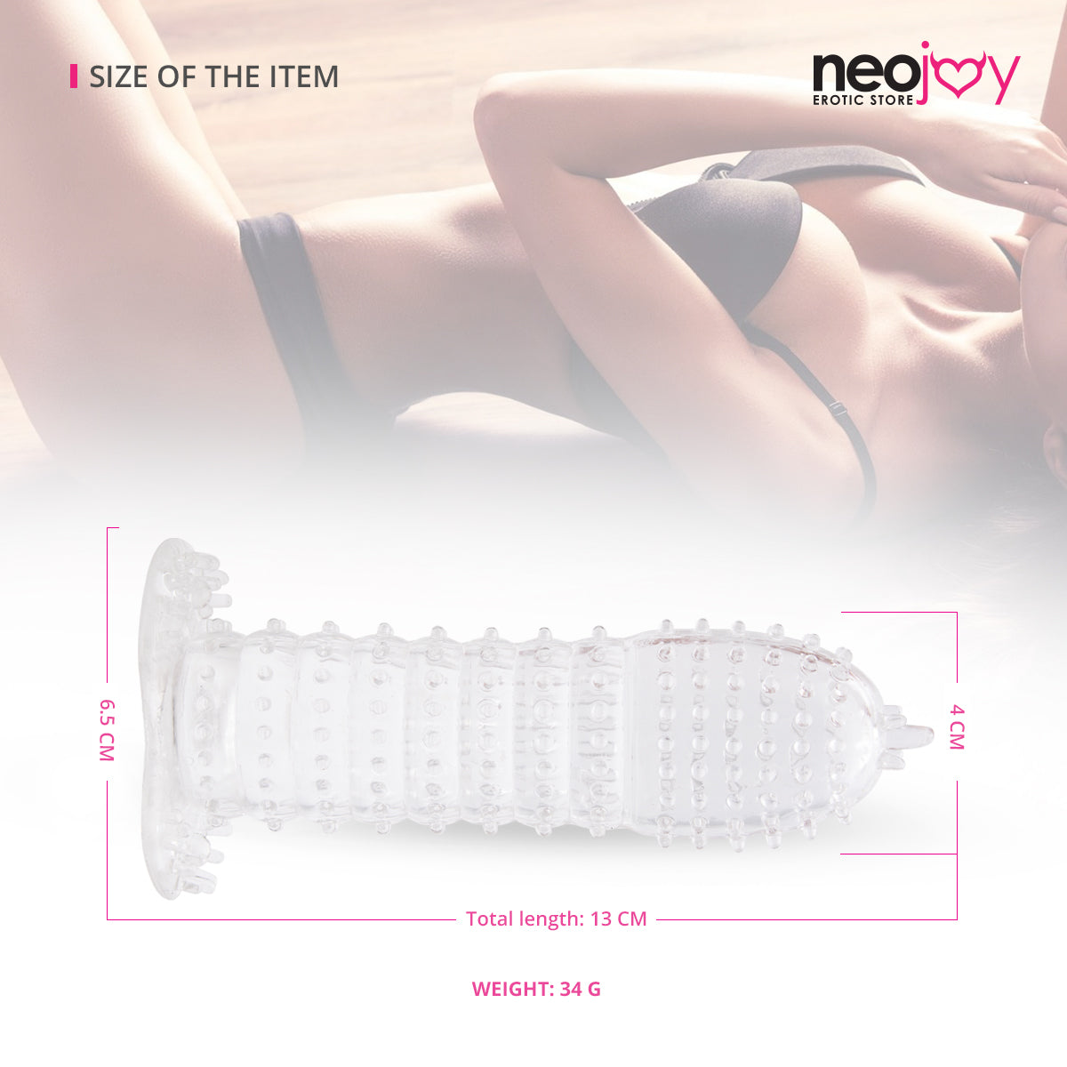 Neojoy Ribbed Clear Penis Sleeve
