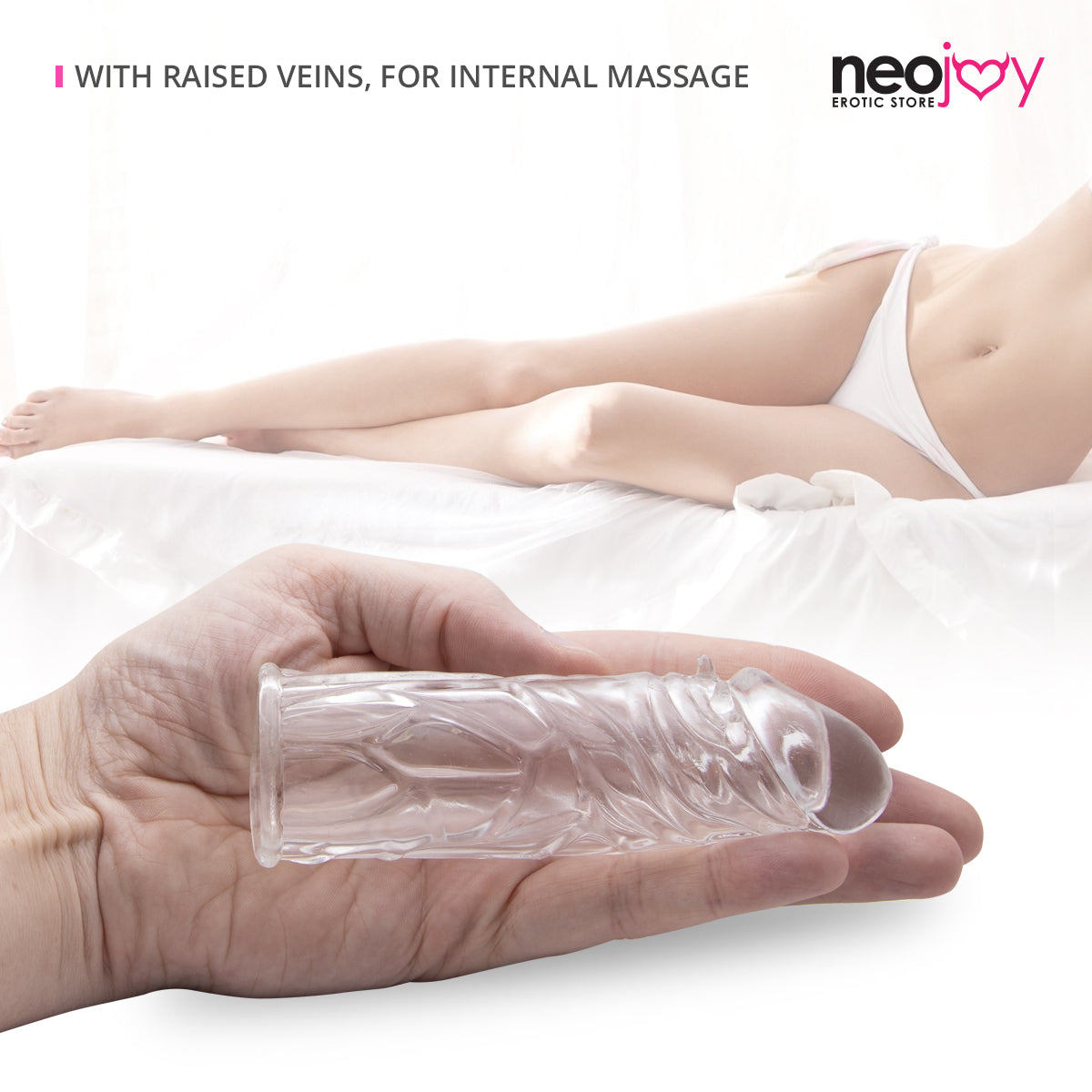 Neojoy Realistic Clear Penis Sleeve