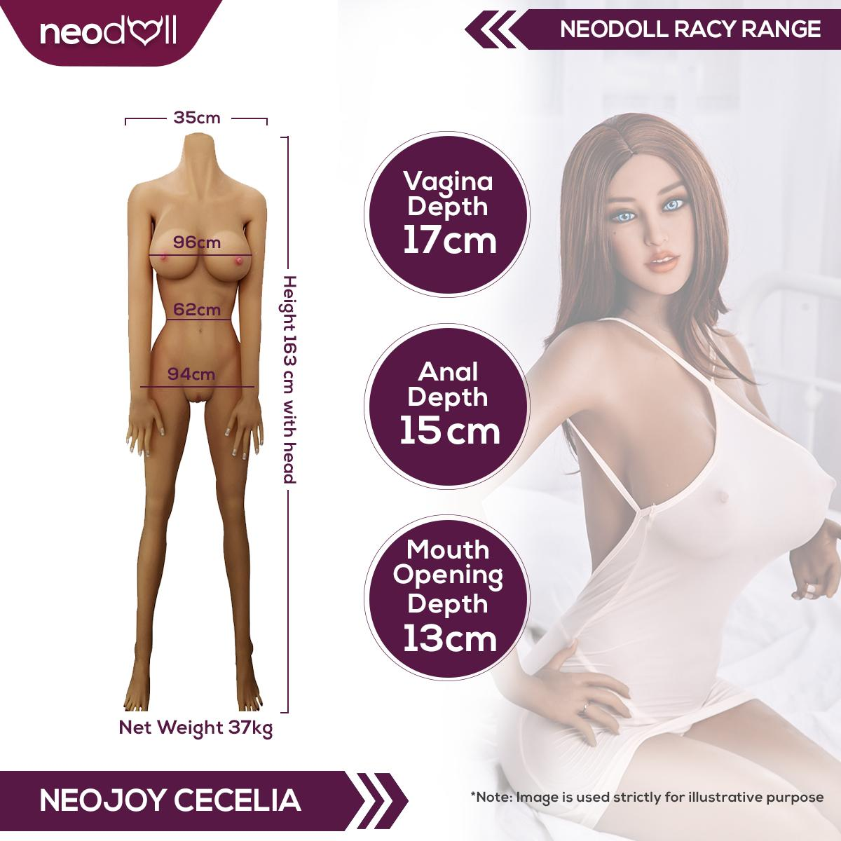 Neodoll Racy Cecelia - Realistic Sex Doll - 163cm Plus - Tan