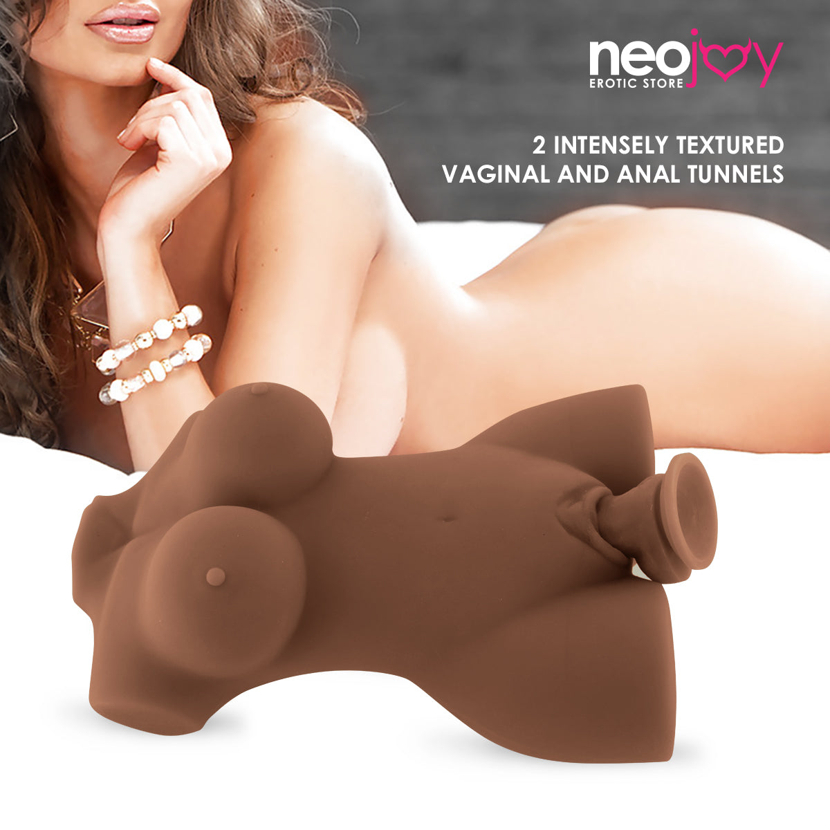 Neojoy Minx Mini Sex Doll TPE With Realistic Ass & Vagina - Brown - Small 1.9kg