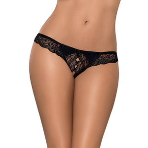 Obsessive - Miamor Crotchless Thong Black L/XL