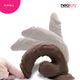 Neojoy - Ultra Realistic Dildo With Strap-On Dong - Brown - 24.5cm - 9.6 inch