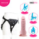 Neojoy - Chubby Dildo With Strap-On Dong Harness - 21.34cm - 8.4 inch