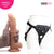 Neojoy - Biggy Vibrating Dildo With Strap-On Dong Harness - Flesh - 23cm - 9.1 inch