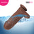 Neojoy Biggest Bad Boy Dildo With Strap-On - Dong Pegging Sex Toy - Brown - 28cm - 11 inch