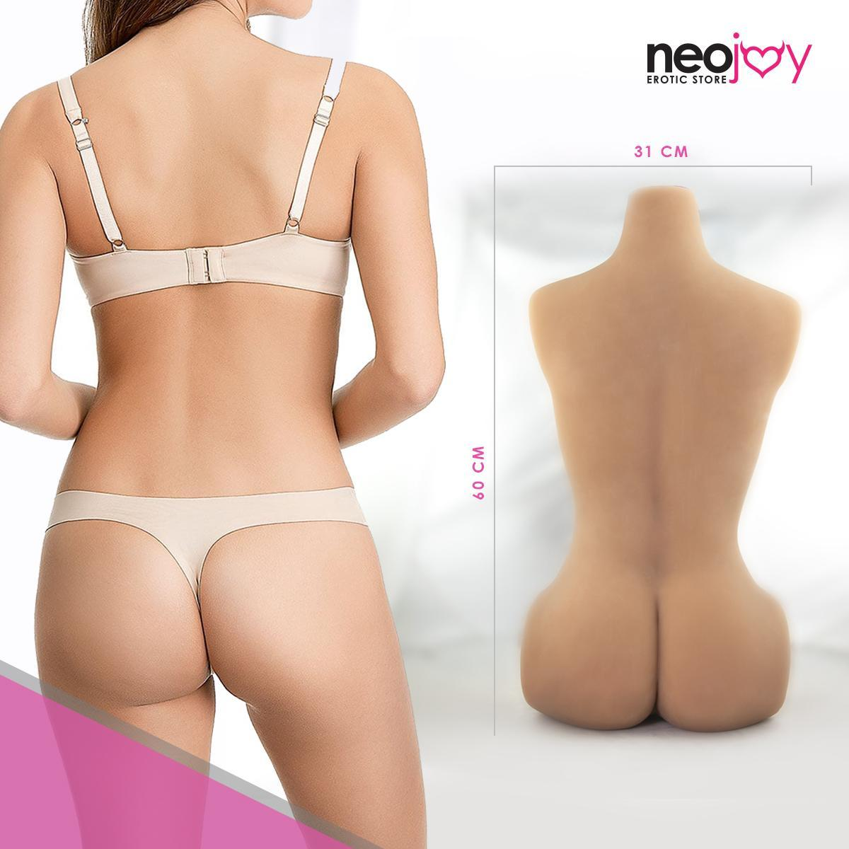 Neojoy Easy Torso & Head - Realistic Sex Doll Torso With Head Connector - Tan - 14kg