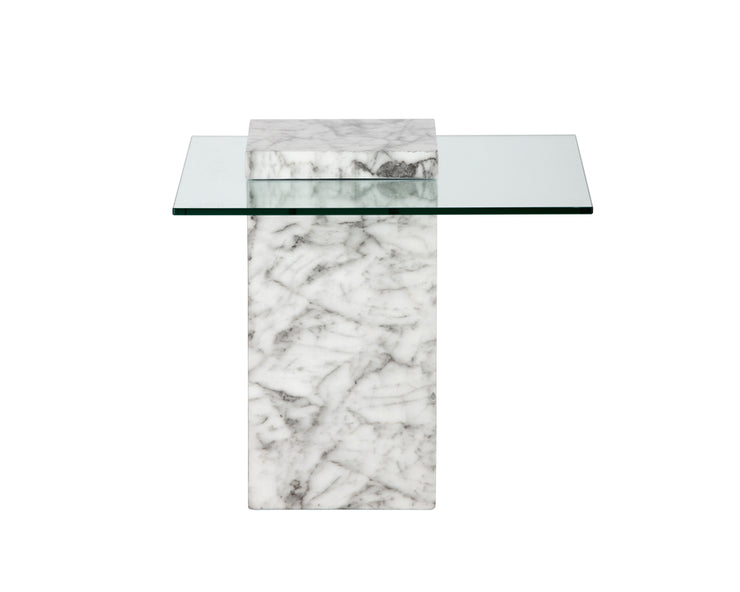 Table d'appoint en verre