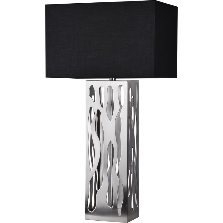 Lampe de table en fini nickel brossé
