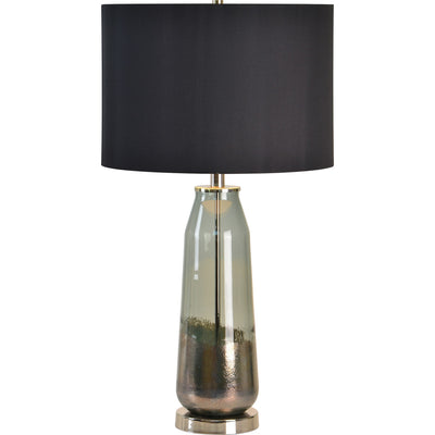 Lampe de table en vitre et fini nickel