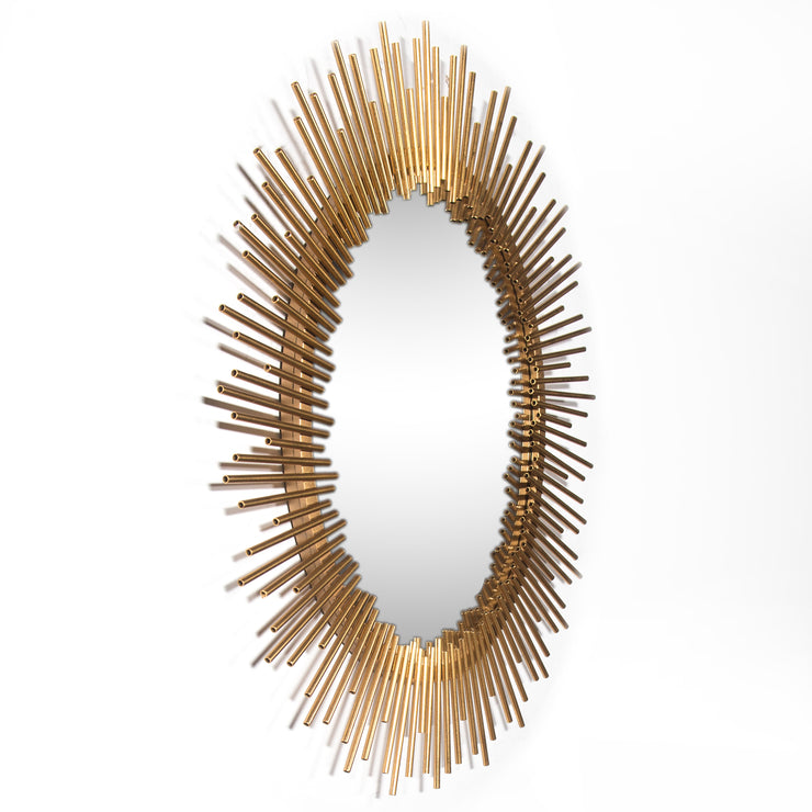 Miroir en or antique - peint à la feuille d'or