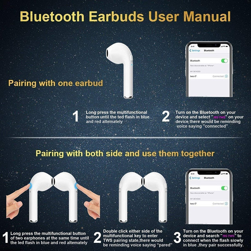 bdcabf1efa3 ... Original IFANS i9 Air Pods TWS mini Bluetooth stereo bass wireless ear  earbuds pods For apple ...