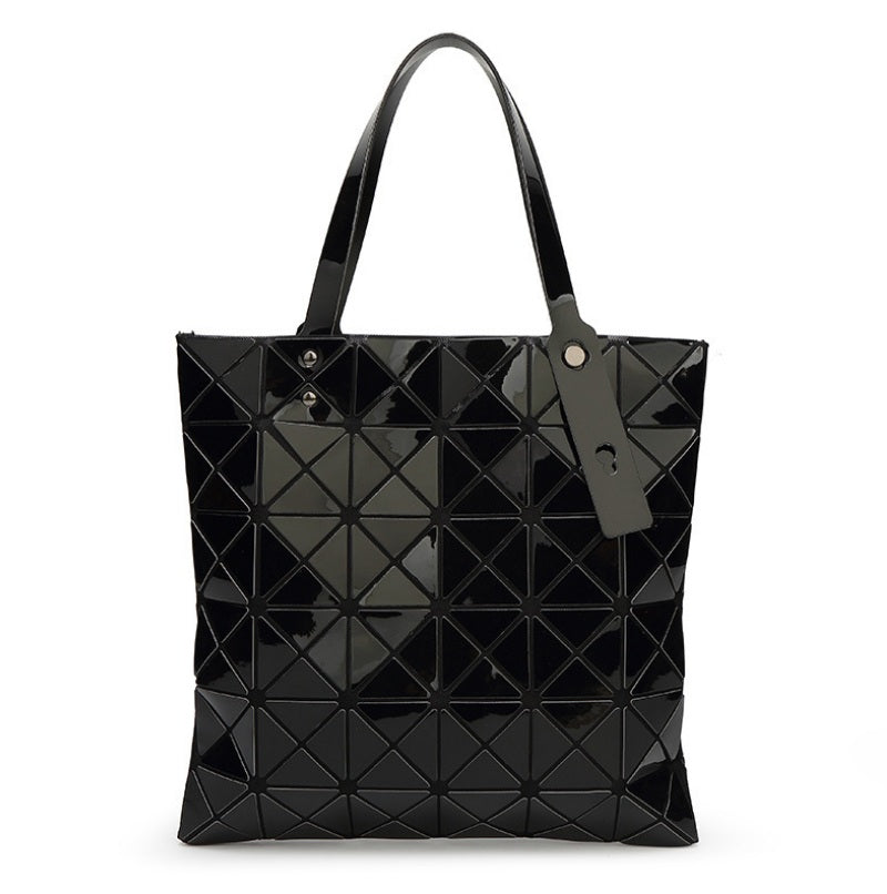 1e55e83c47 ... 2017 New Women Luminous Handbag Bao Bag Female Folded Geometric Plaid  Bag Fashion Casual Tote Women ...