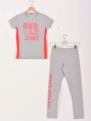 Dance Set, Grey Chine x Coral