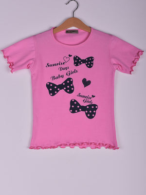 T-Shirt: Rose: Papillion