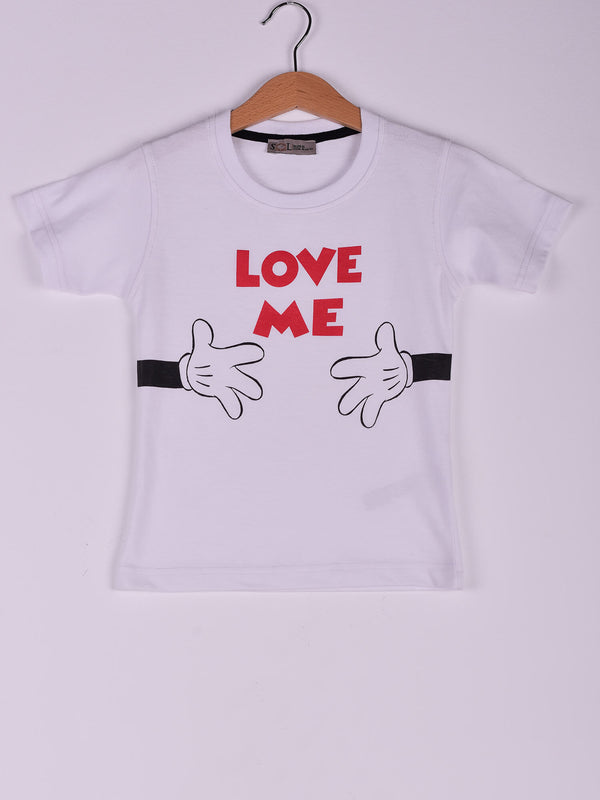 T-Shirt: White: Love Me