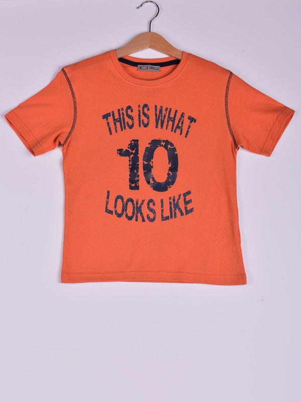 T-Shirt: Orange: This is What 10 Looks Like