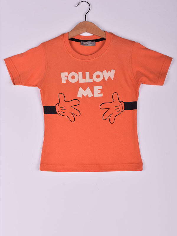 T-Shirt: Orange: Follow Me