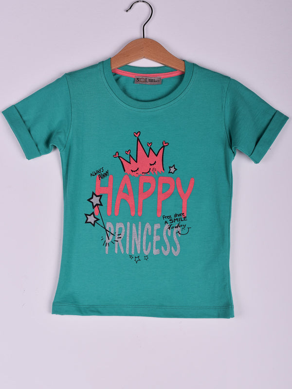 T-Shirt: Aqua: Happy Princess