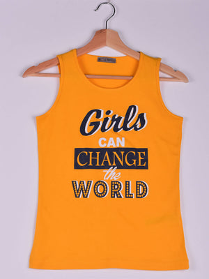 Tank,Yellow,Girls Can Change the World