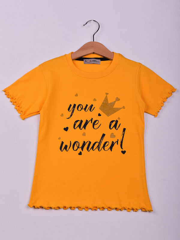 T-Shirt: Yellow: Wonder