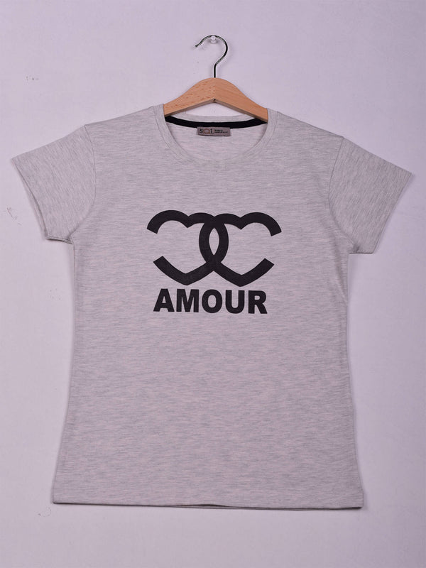 T-Shirt, Grey Chine, Amour