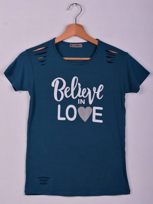 T-Shirt,Teal, Believe in Love