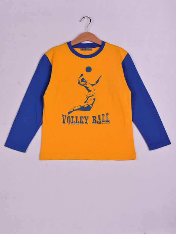 T-Shirt: Yellow: VolleyBall