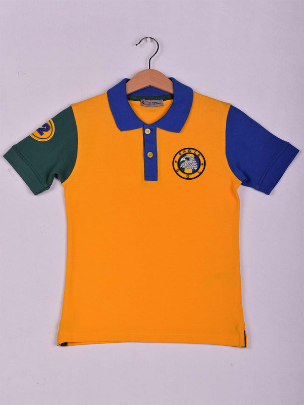 SOL Color Block Polo: Yellow