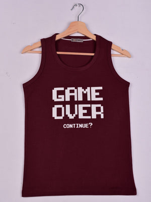 Tank: Burgundy: Game Over