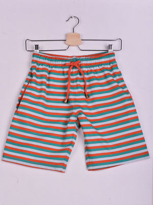 Striped Shorts: Orange