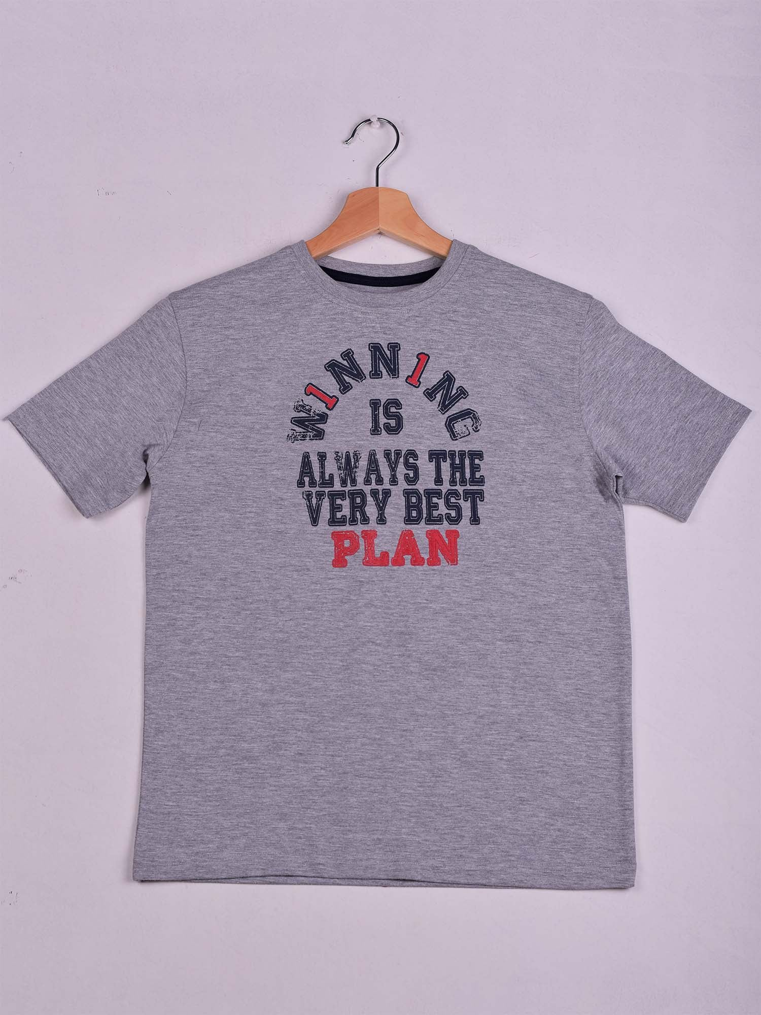 T-Shirt: Grey Chine: W1NN1NG