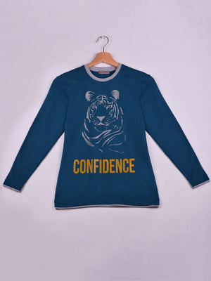 T-Shirt: Teal: Confidence