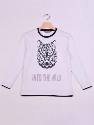 T-Shirt:White: Into The Wild