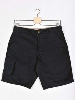 Gabardine Shorts: Navy Blue