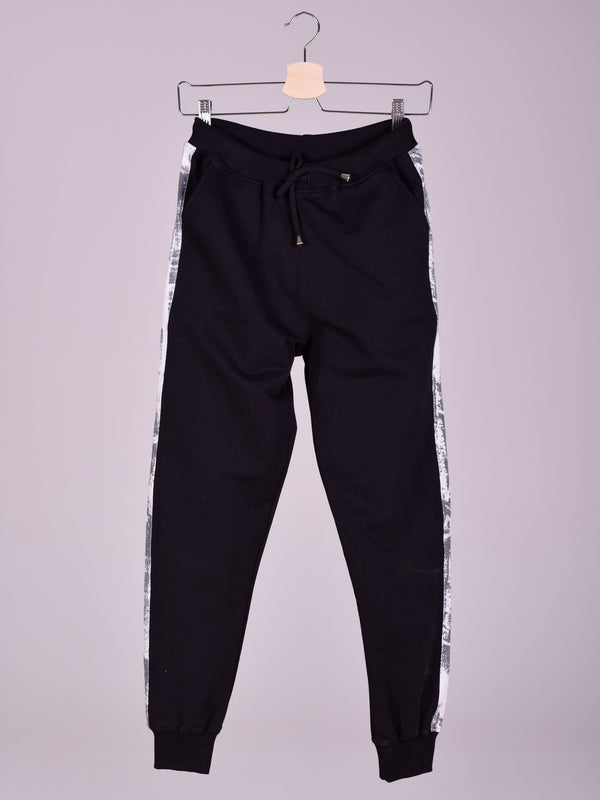 Sweatpants: Black: Abstrait