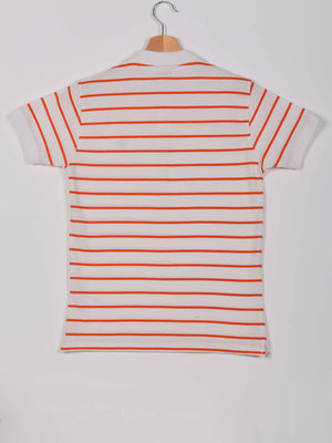 2 Colors Stripped Polo: Orange