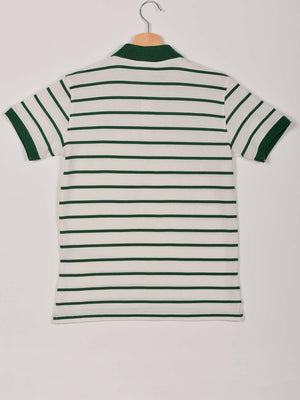 2 Colors Stripped Polo: Green
