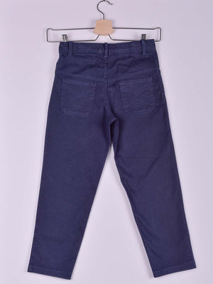 Gabardine Pants: Navy Blue