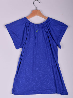 Top,Royal Blue, Butterfly & Branch