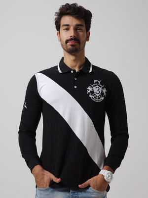 BRITANIA Long Sleeve Polo with Cuffs
