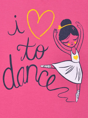 T-Shirt: Pink: I Love to Dance