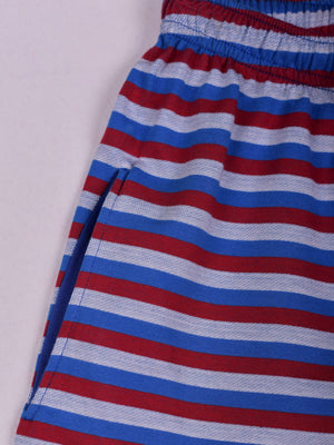 Striped Shorts: Red